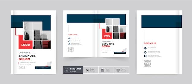 Creative book cover template design brochure cover design bifold brochure layout theme