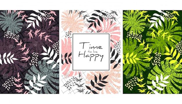 Creative botanical seamless pattern