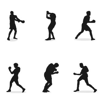 創造的なボクシングのデザインコンセプトイラスト