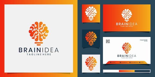 Creative brain idea logo