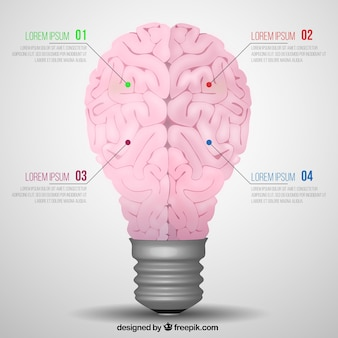 Creative brain infographic