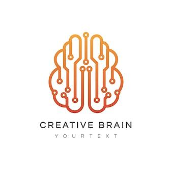 創造的な脳のロゴ