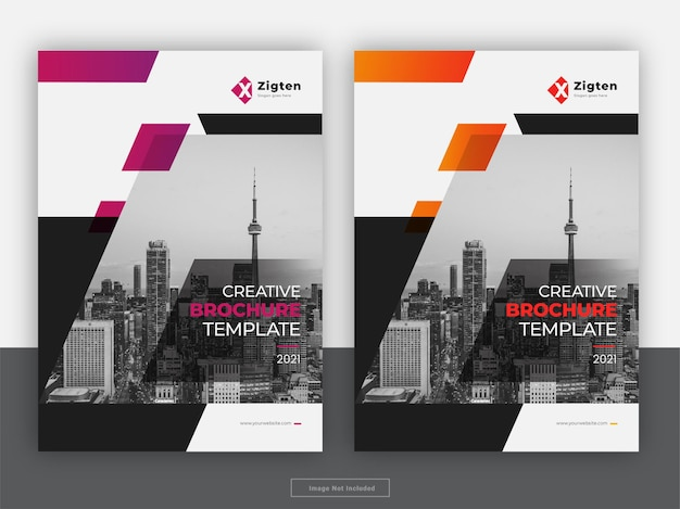 Creative brochure cover annual report flyer template