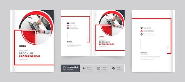 Creative brochure cover template company profile cover design bifold brochure book cover layout