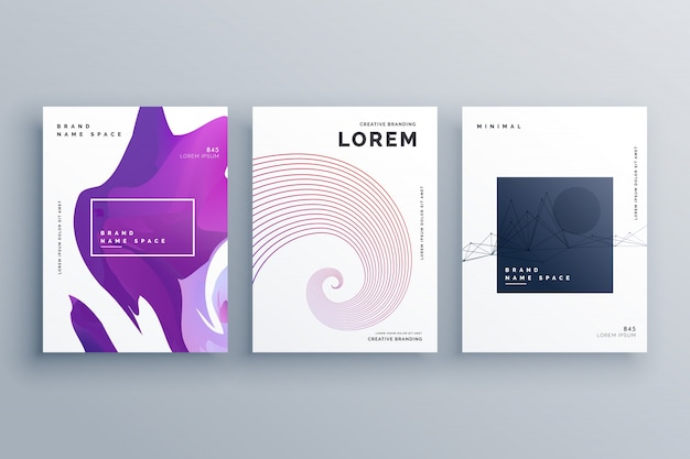 Creative Brochure Design Template In A4 Size Minimal Style Vector