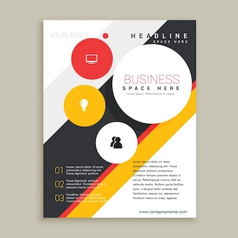 Creative brochure template Free Vector
