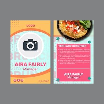 Modello di carta d'identità per il brunch creativo