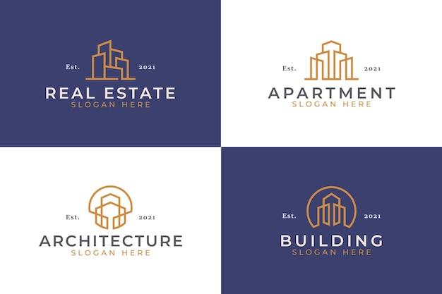 クリエイティブな建物の抽象的なロゴのテンプレート