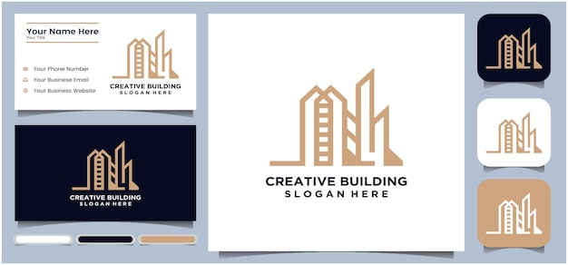 Creative building design logo  abstract building structure home architecture construction
