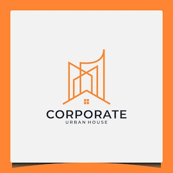 Creative buildings logo design with house skyscrapers for your buildings real estate etc company