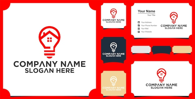 Логотип creative bulb city и визитная карточка