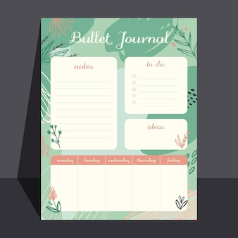 Creative bullet journal planner