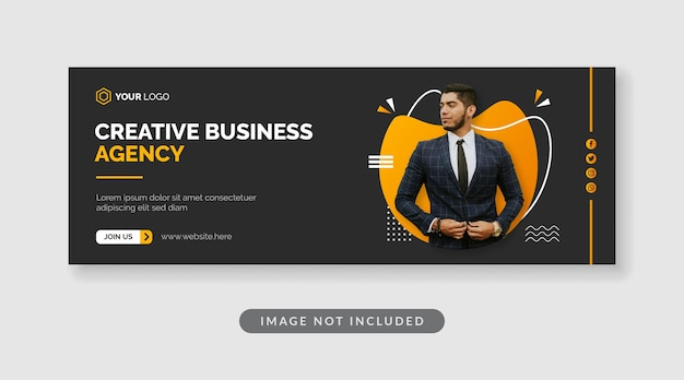 Шаблон баннера креативного бизнес-агентства