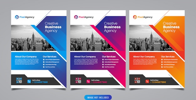 Creative business agency flyer template
