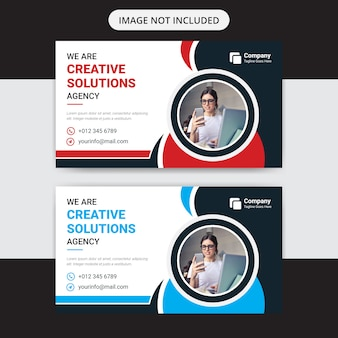 Креативный бизнес баннер дизайн шаблона