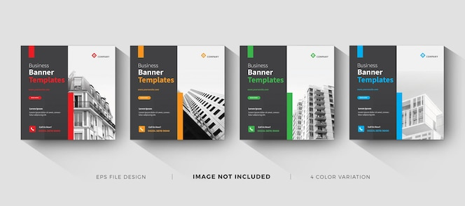 creative business banner template social media