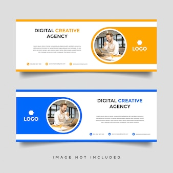Creative business banner vector template