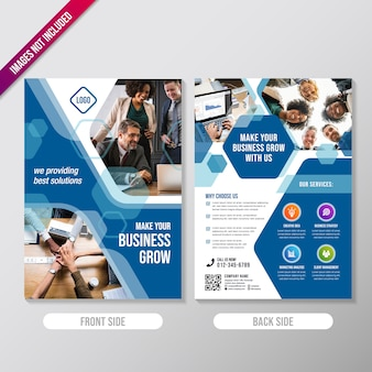 Creative business brochure design template with polygonal element
