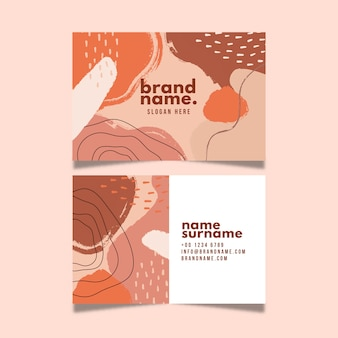 Creative business card abstract design