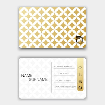 Creative business card design on the gray background.