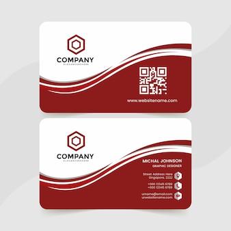 Creative business card design template premium