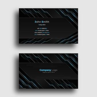 Creative business card design template with futuristic design