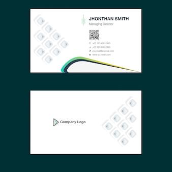 Шаблон дизайна творческой визитной карточки