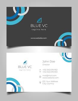 Creative business card ellipse layout