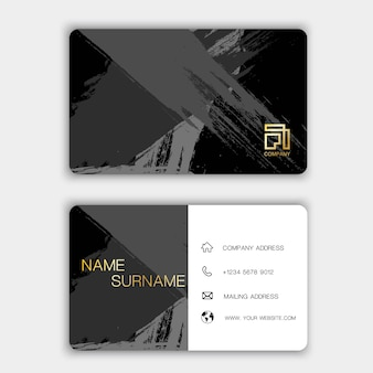 Creative business card on the gray