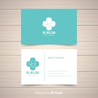 Creative business card in medical style