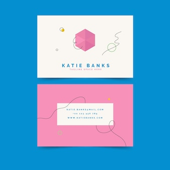Creative business card minimal design