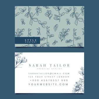 Creative business card for stylist