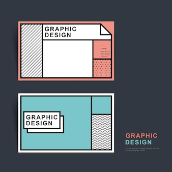 Creative business card template design in flat style