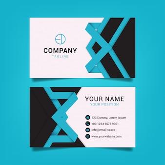 Creative business card template graphic design illustration