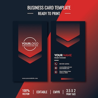 Creative business card template illustration