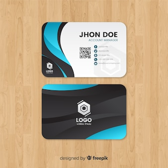 Creative business card template with abstract shapes