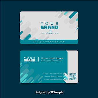 Creative business card template with geometric shapes