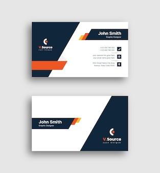 Creative business card template with gradient color