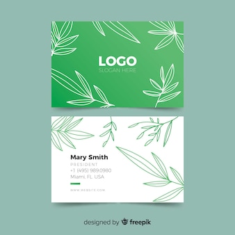 Creative business card template with nature concept
