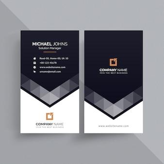Креативный шаблон визитной карточки Premium векторы