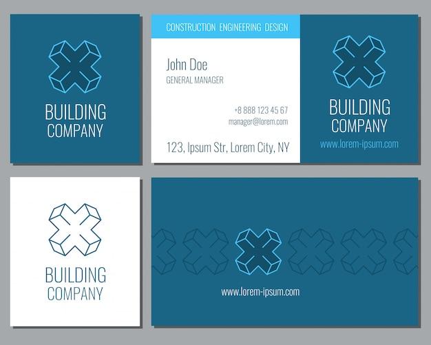 Creative business card vector template