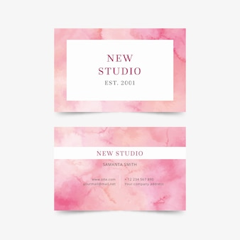 Creative business card watercolor style