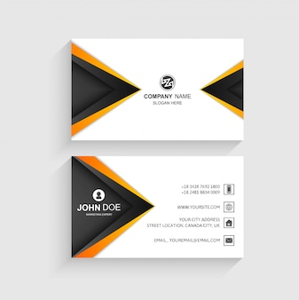 Creative business card wave template