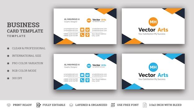 Творческая визитная карточка с абстрактной формой