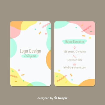Creative business card with abstract shapes