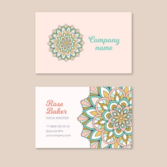 Creative business card with colorful mandala