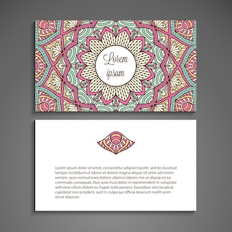 Creative business card with mandala concept