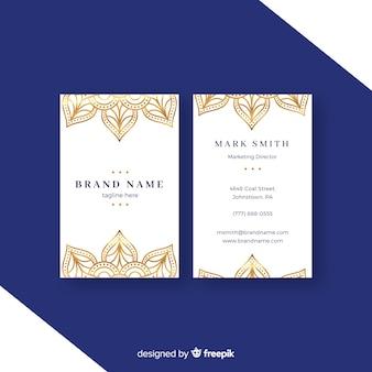 曼陀羅デザインのクリエイティブな名刺