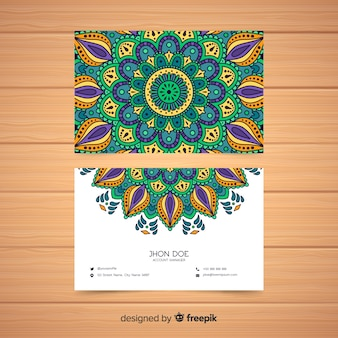 Creative business card with mandala design