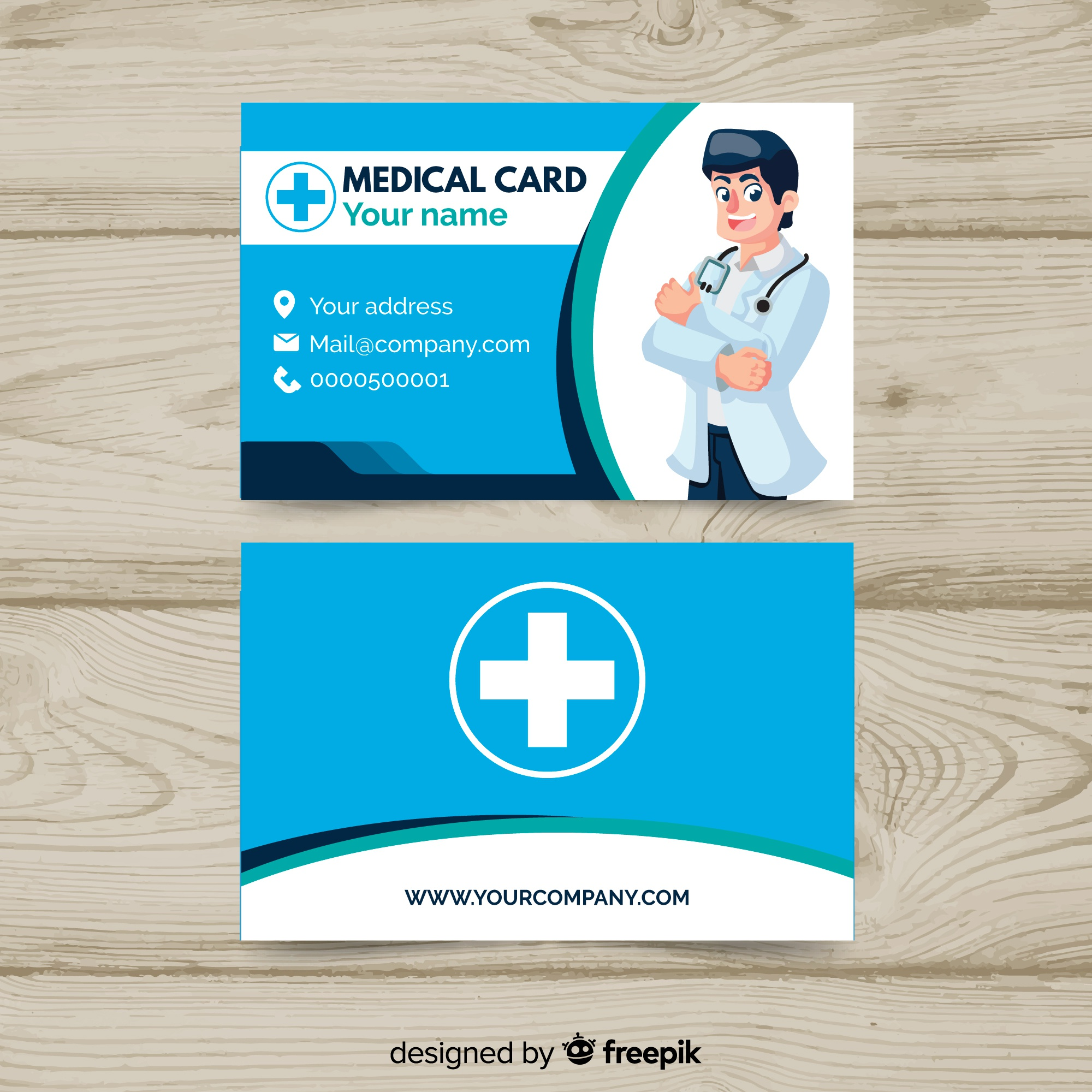 Creative business card with medical concept